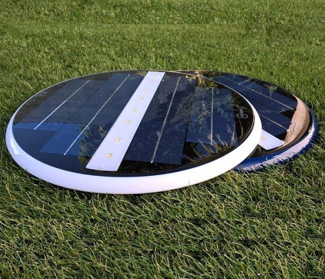 foco solar led piscina